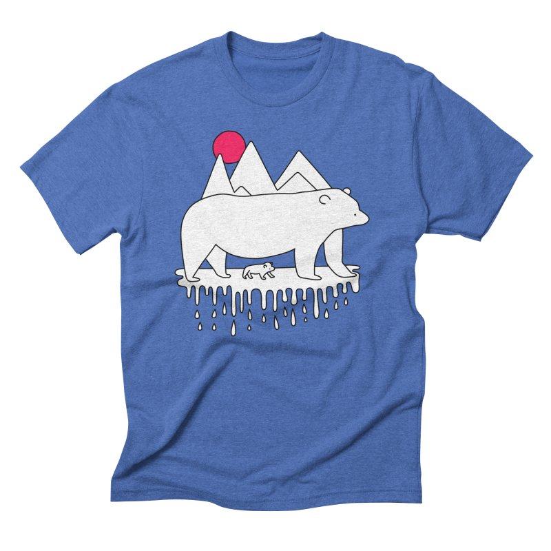 Polar Bear Family Men's Triblend T-shirt by Porky Roebuck