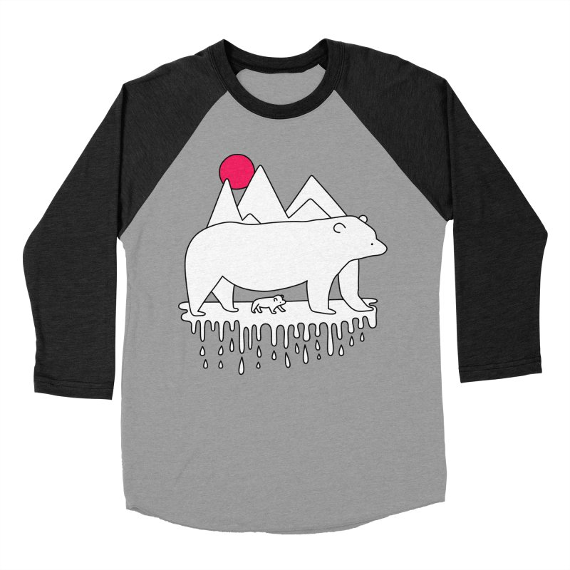 Polar Bear Family Women's Baseball Triblend T-Shirt by Porky Roebuck