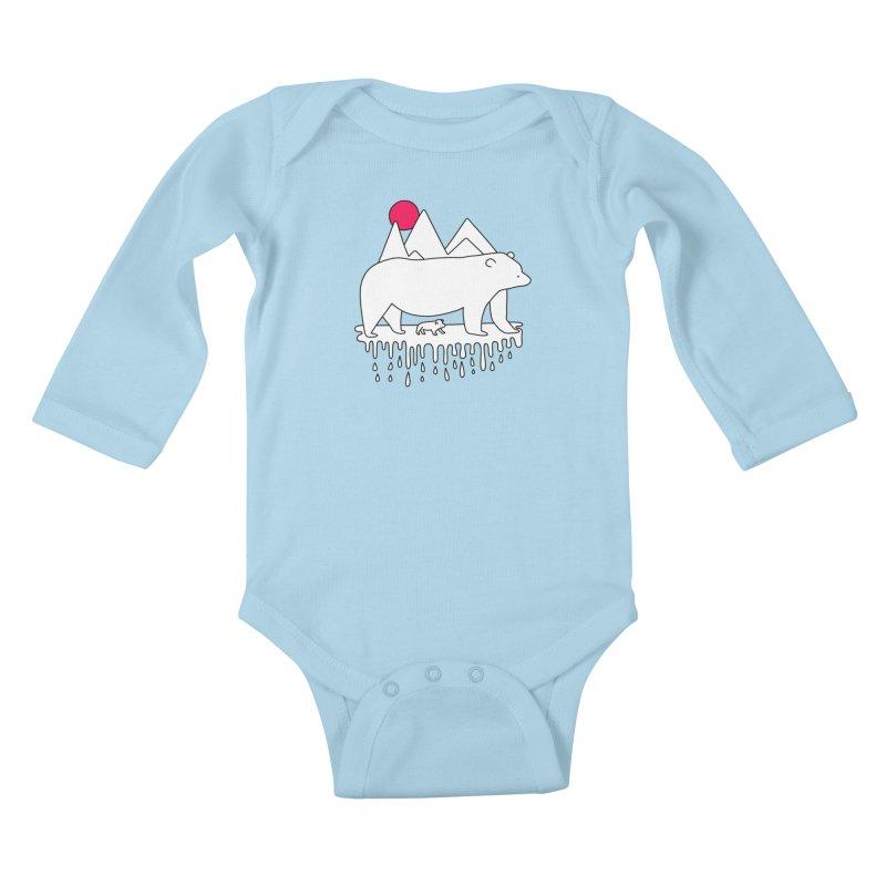 Polar Bear Family Kids Baby Longsleeve Bodysuit by Porky Roebuck