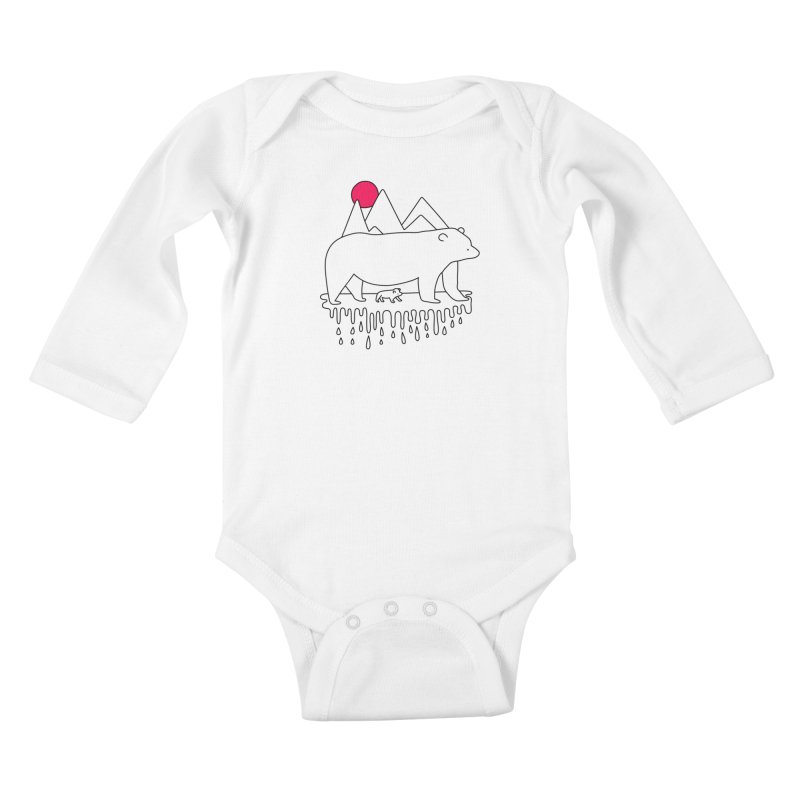 Polar Bear Family Kids Baby Longsleeve Bodysuit by Porky Roebuck