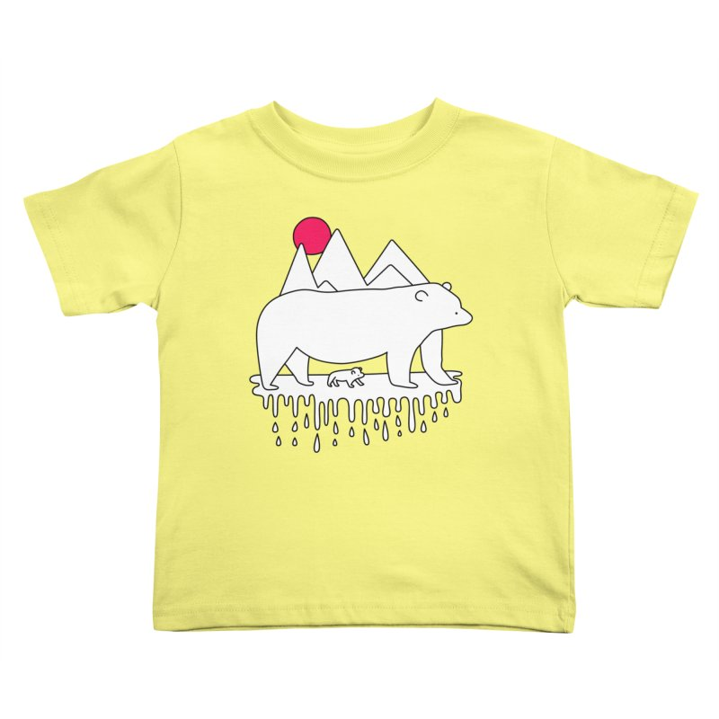 Polar Bear Family Kids Toddler T-Shirt by Porky Roebuck