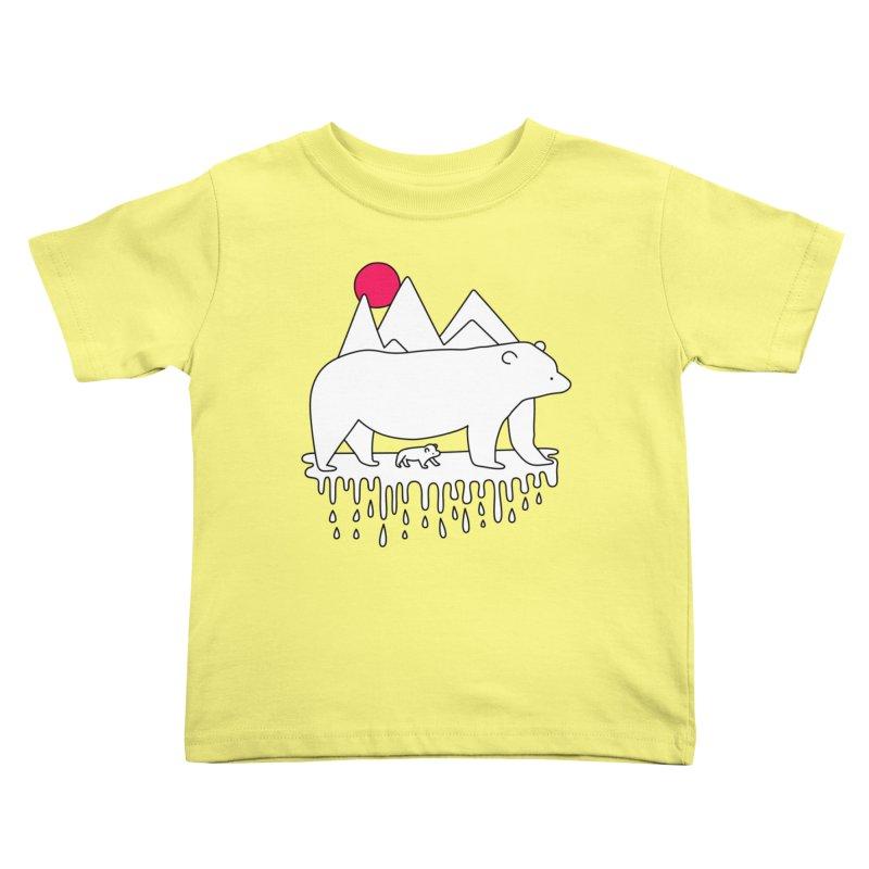 Polar Bear Family Kids Toddler T-Shirt by Porky Roebuck