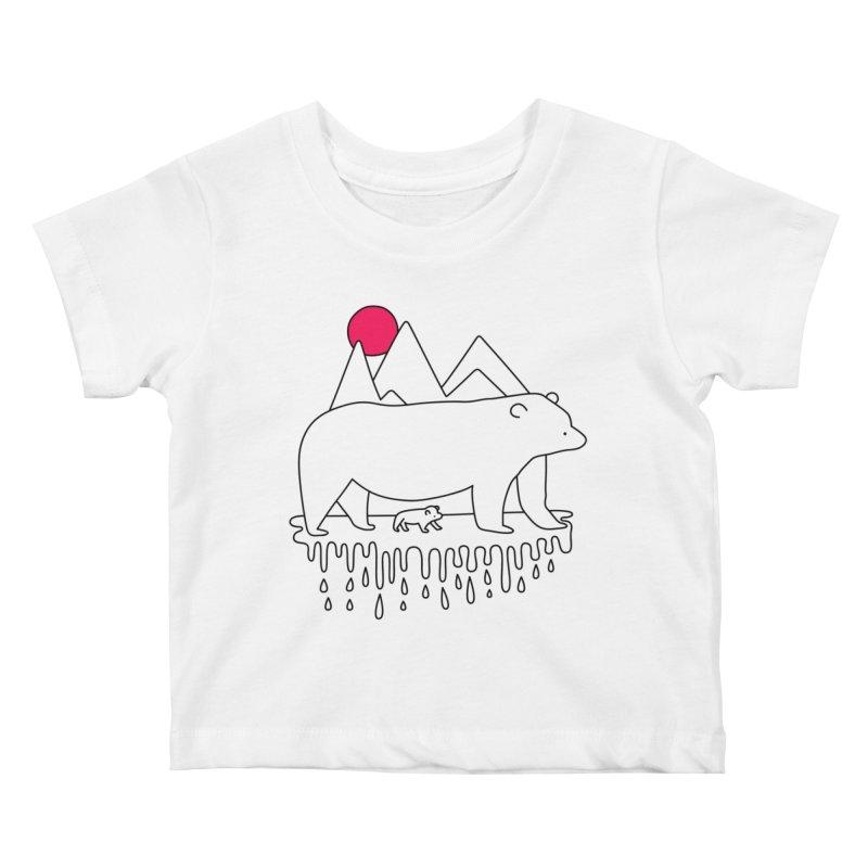 Polar Bear Family Kids Baby T-Shirt by Porky Roebuck