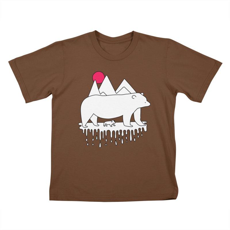 Polar Bear Family Kids T-shirt by Porky Roebuck