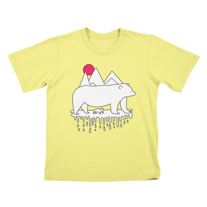 Polar Bear Family Kids T-shirt by Porky Roebuck