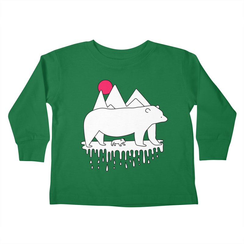 Polar Bear Family Kids Toddler Longsleeve T-Shirt by Porky Roebuck