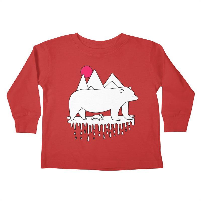 Polar Bear Family Kids Toddler Longsleeve T-Shirt by Porky Roebuck