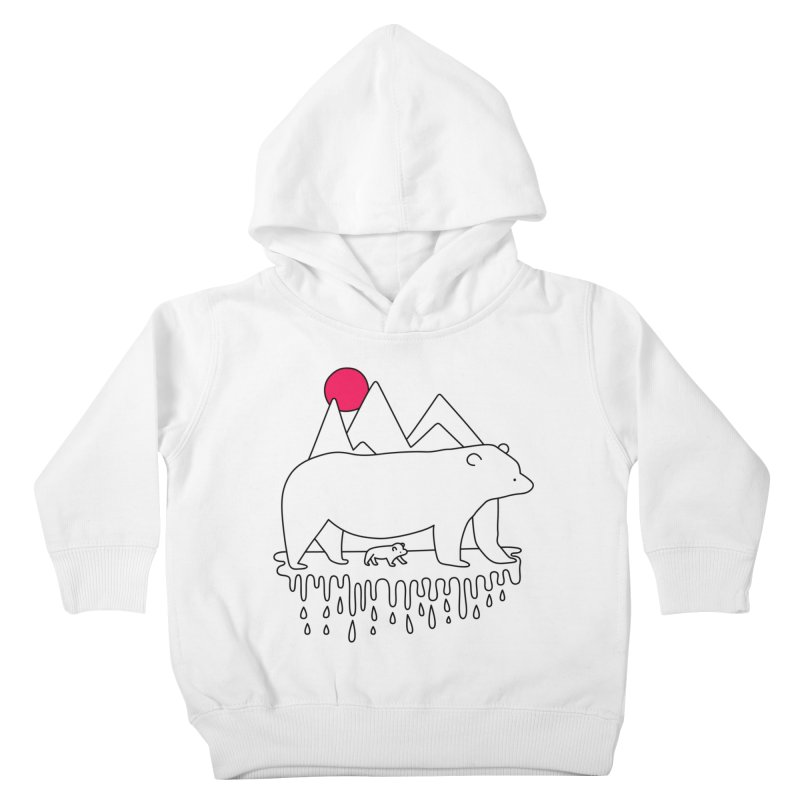 Polar Bear Family Kids Toddler Pullover Hoody by Porky Roebuck