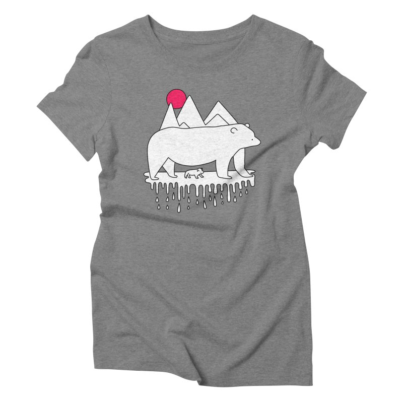Polar Bear Family Women's Triblend T-shirt by Porky Roebuck