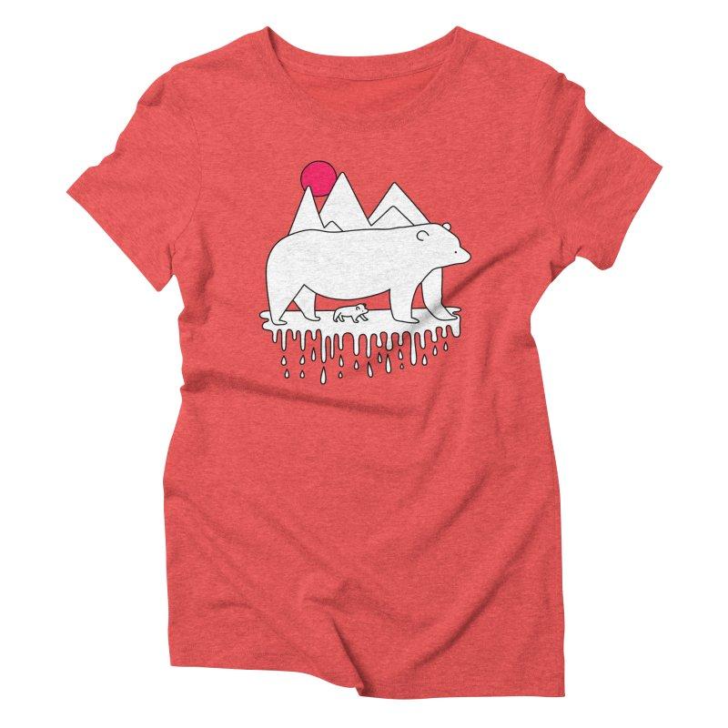 Polar Bear Family Women's Triblend T-shirt by Porky Roebuck