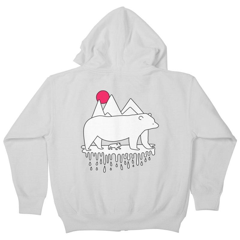 Polar Bear Family Kids Zip-Up Hoody by Porky Roebuck