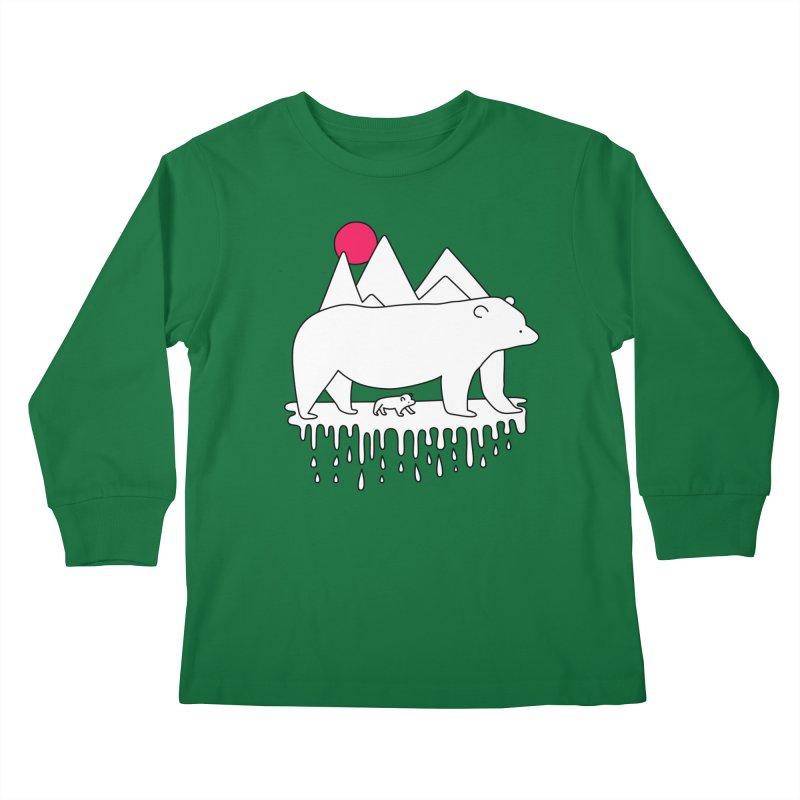 Polar Bear Family Kids Longsleeve T-Shirt by Porky Roebuck