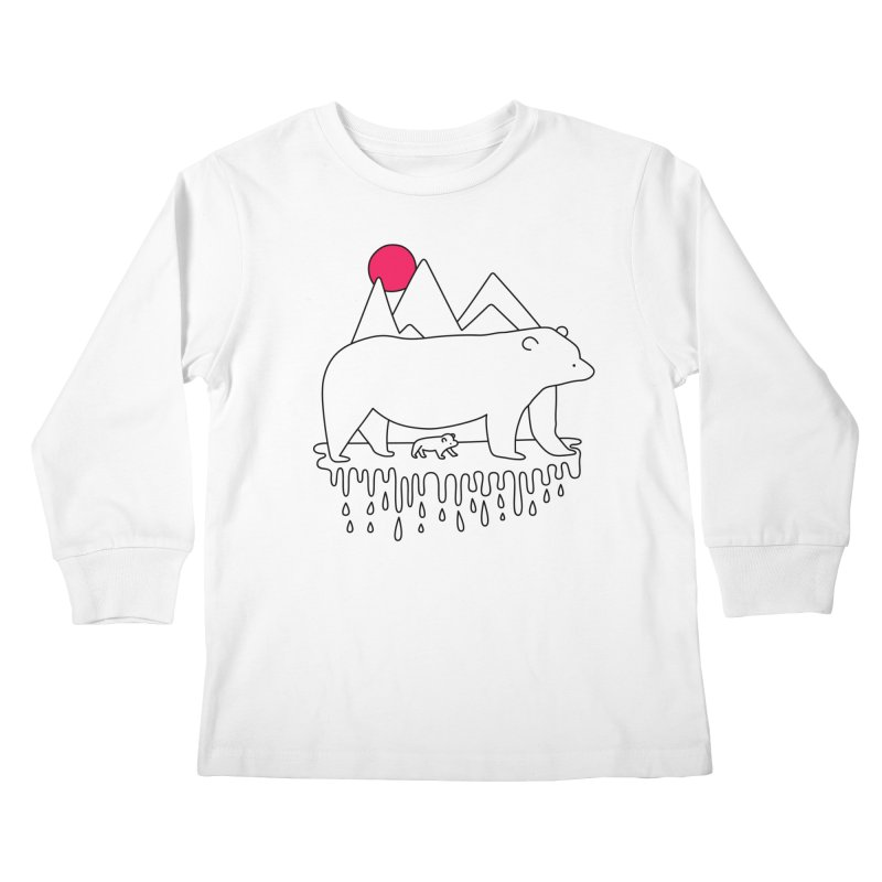 Polar Bear Family Kids Longsleeve T-Shirt by Porky Roebuck