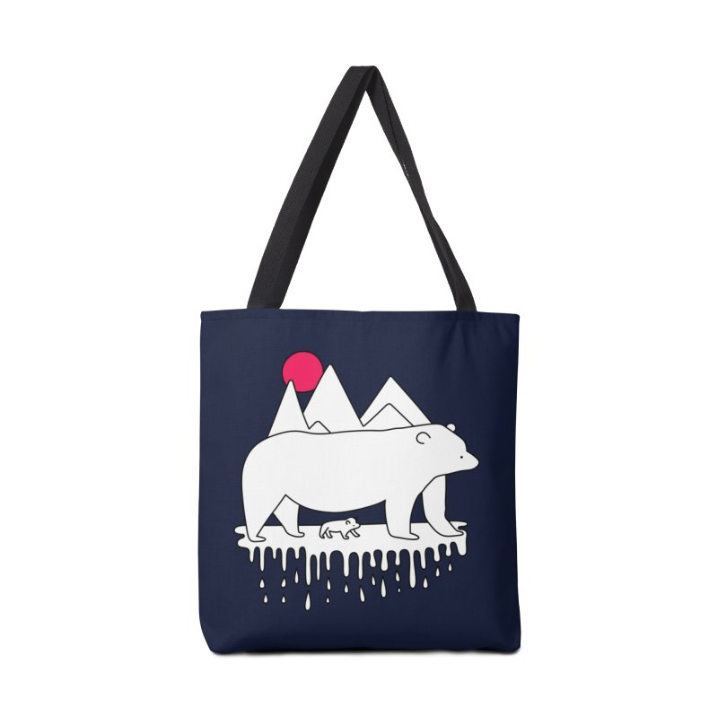 Polar Bear Family Accessories Bag by Porky Roebuck