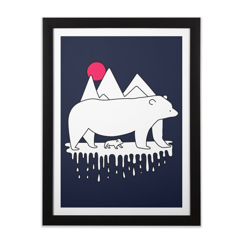 Polar Bear Family Home Framed Fine Art Print by Porky Roebuck