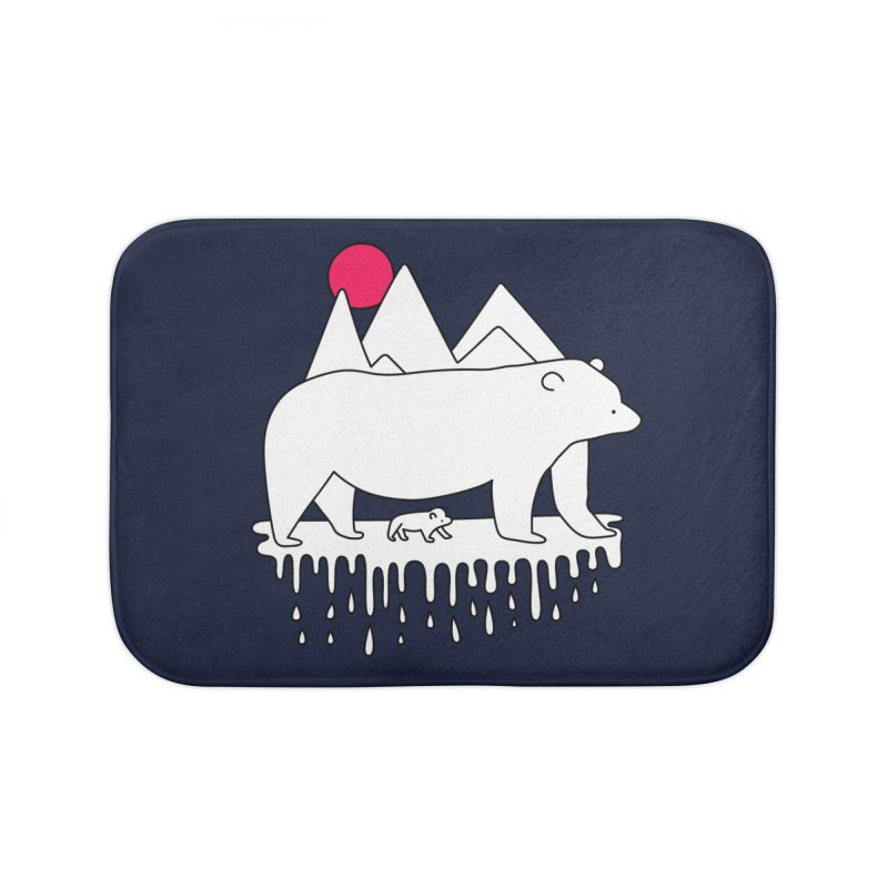 Polar Bear Family Home Bath Mat by Porky Roebuck