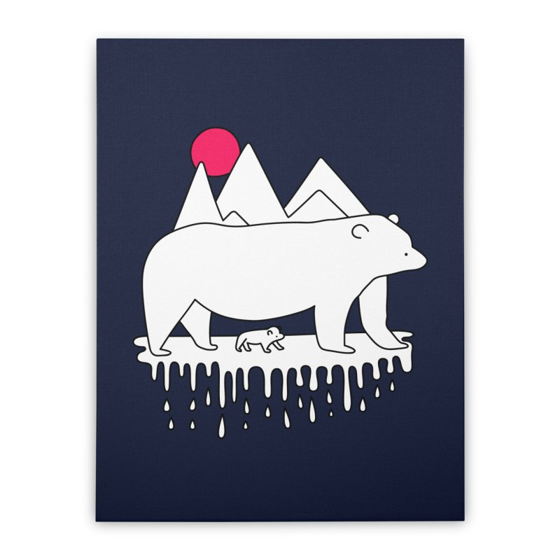 Polar Bear Family Home Stretched Canvas by Porky Roebuck