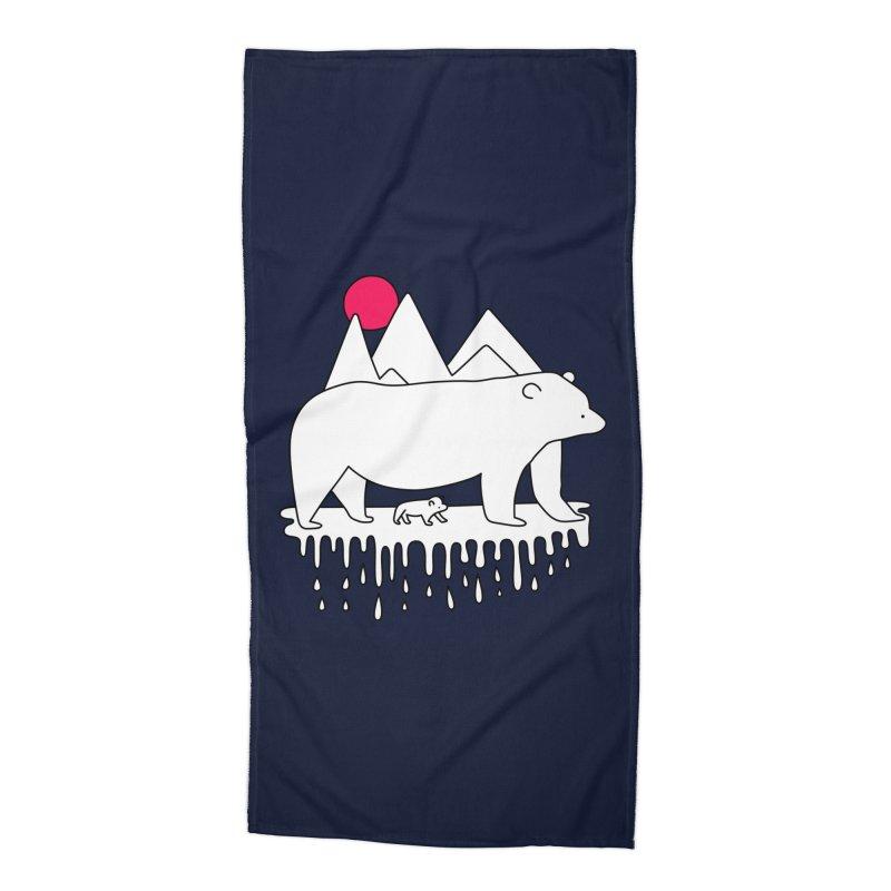Polar Bear Family Accessories Beach Towel by Porky Roebuck