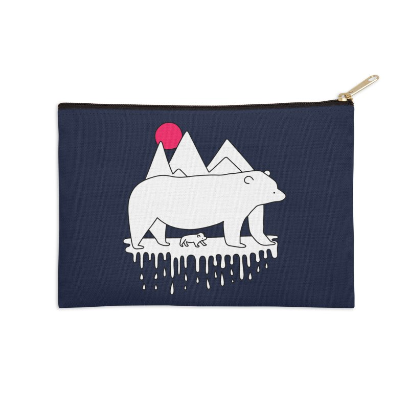 Polar Bear Family Accessories Zip Pouch by Porky Roebuck