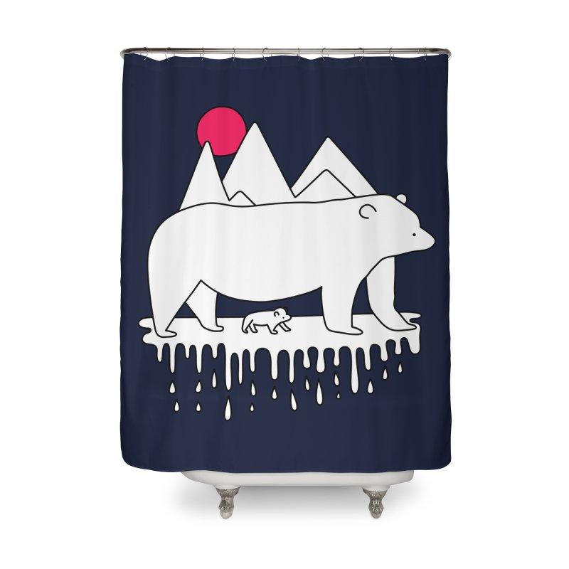 Polar Bear Family Home Shower Curtain by Porky Roebuck
