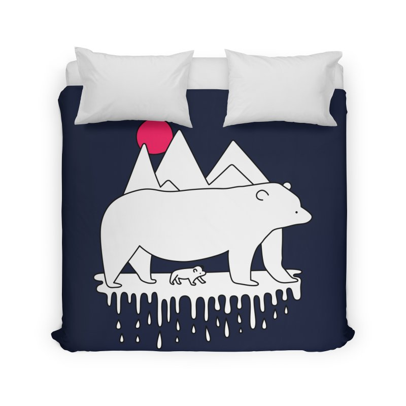 Polar Bear Family Home Duvet by Porky Roebuck