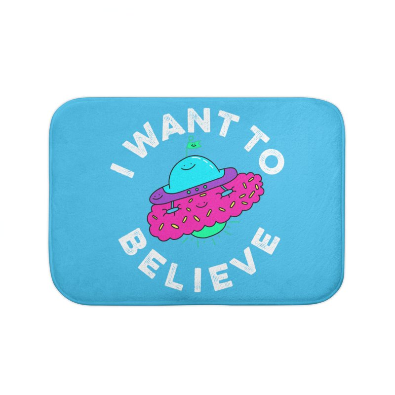 I want to believe Home Bath Mat by Porky Roebuck