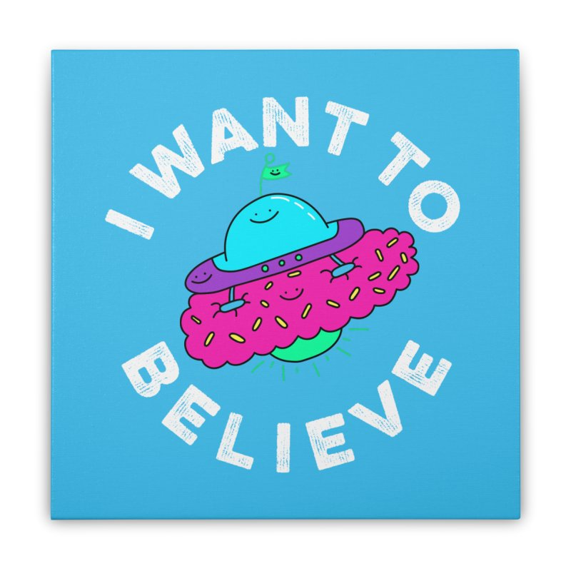 I want to believe Home Stretched Canvas by Porky Roebuck