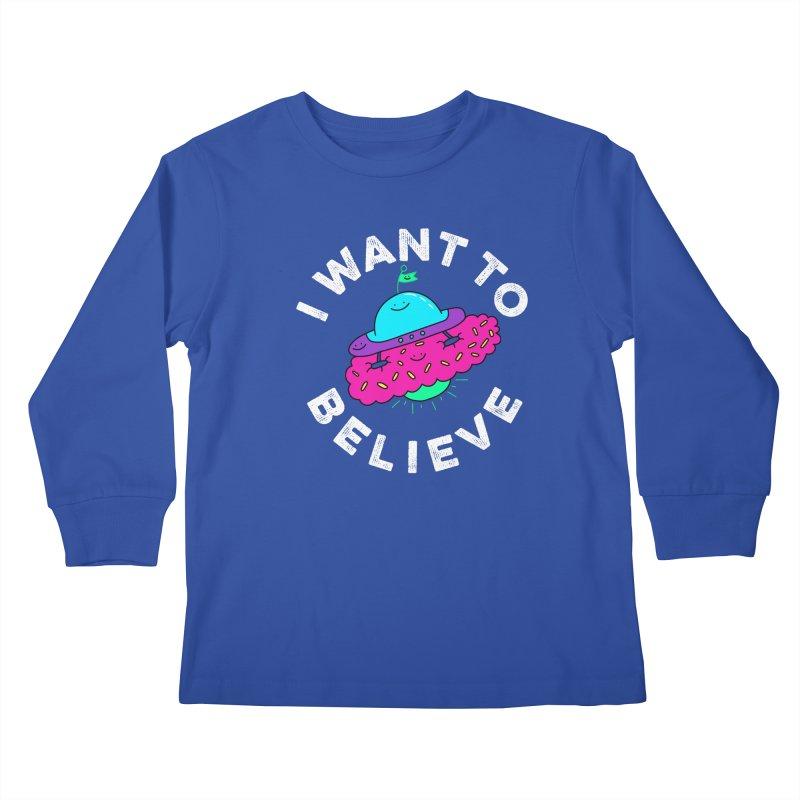I want to believe Kids Longsleeve T-Shirt by Porky Roebuck