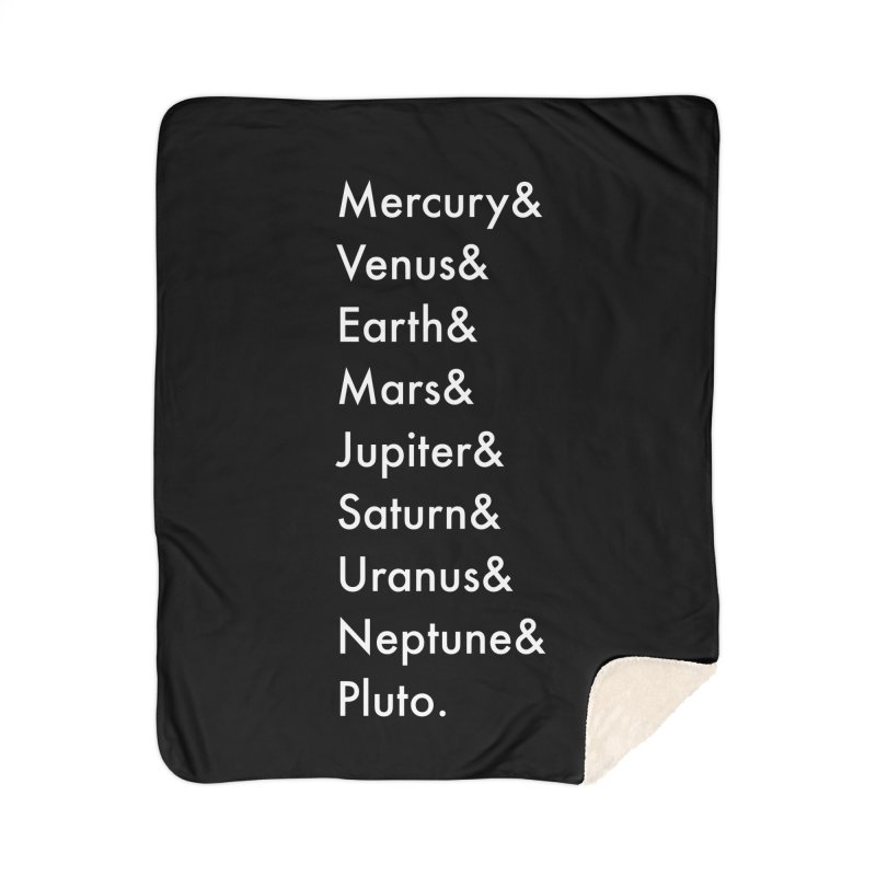 Planets Home Sherpa Blanket Blanket by Unprovable