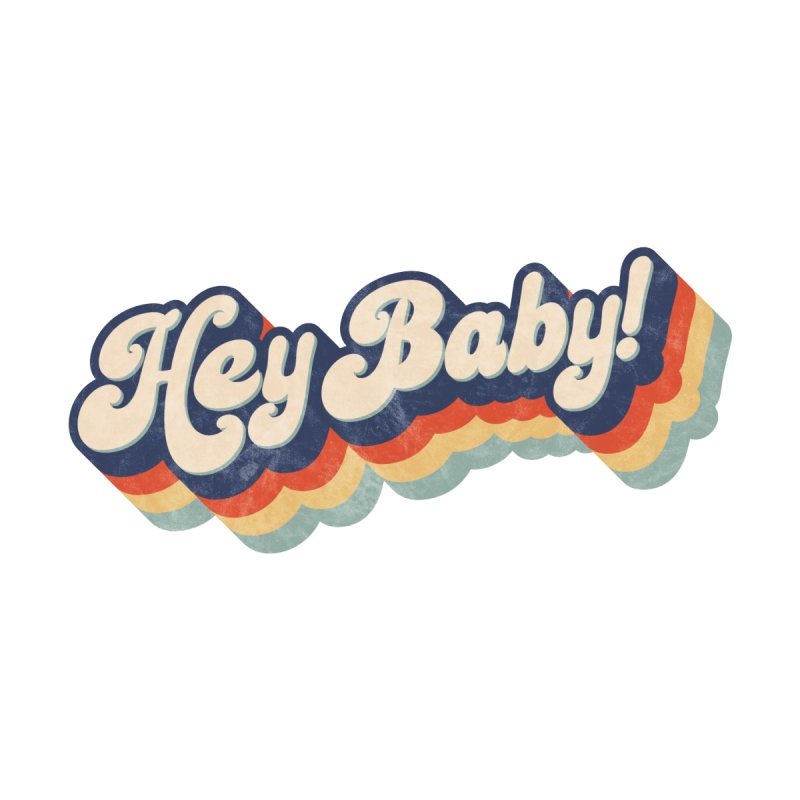 Hey Baby! Home Rug by Bloody Murder's Artist Shop