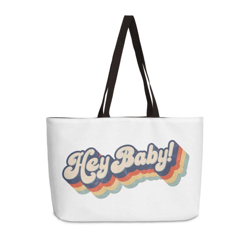 Hey Baby! Accessories Weekender Bag Bag by Bloody Murder's Artist Shop