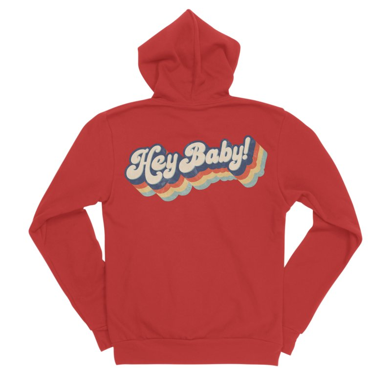 Hey Baby! Men's Zip-Up Hoody by Bloody Murder's Artist Shop