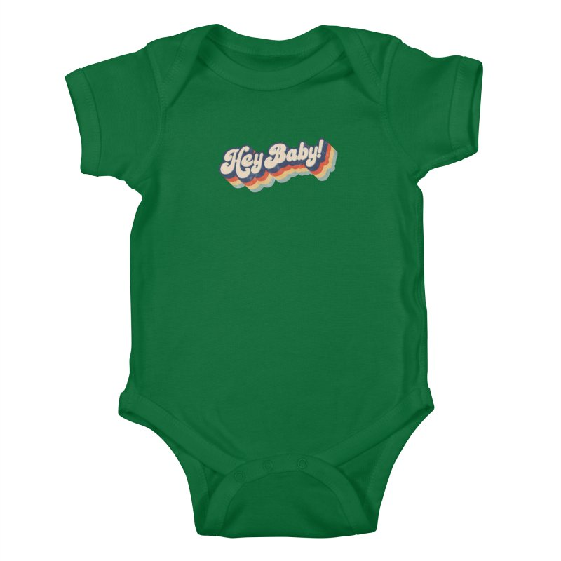 Hey Baby! Kids Baby Bodysuit by Bloody Murder's Artist Shop