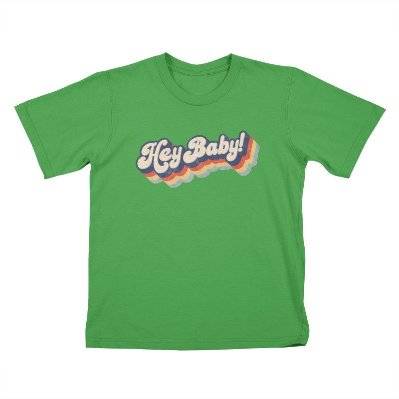 Hey Baby! Kids T-Shirt by Bloody Murder's Artist Shop