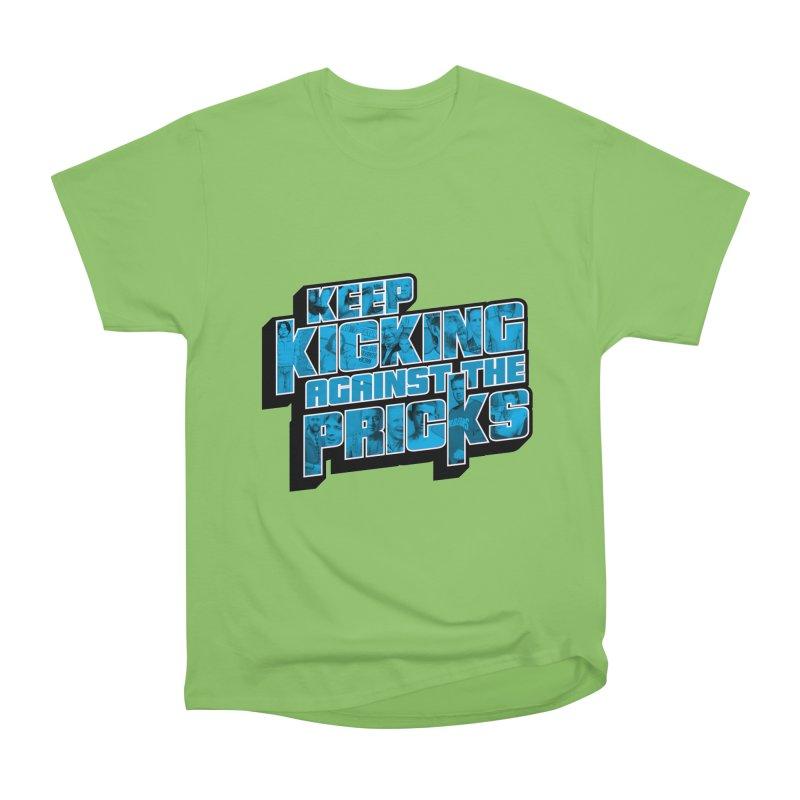 Keep Kicking Against the Pricks (Coloured) Men's Heavyweight T-Shirt by Bloody Murder's Artist Shop