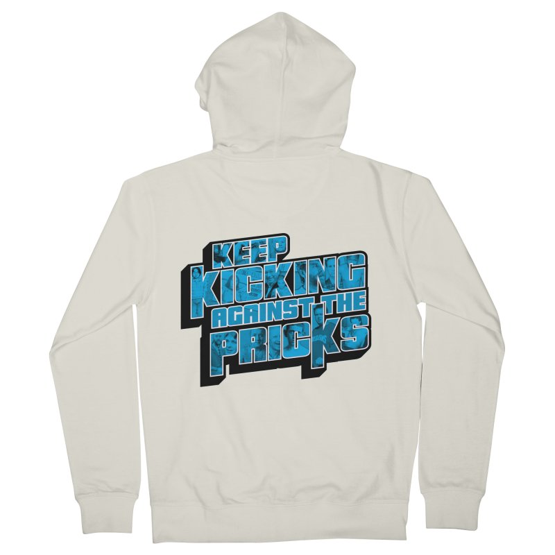Keep Kicking Against the Pricks (Coloured) Men's French Terry Zip-Up Hoody by Bloody Murder's Artist Shop