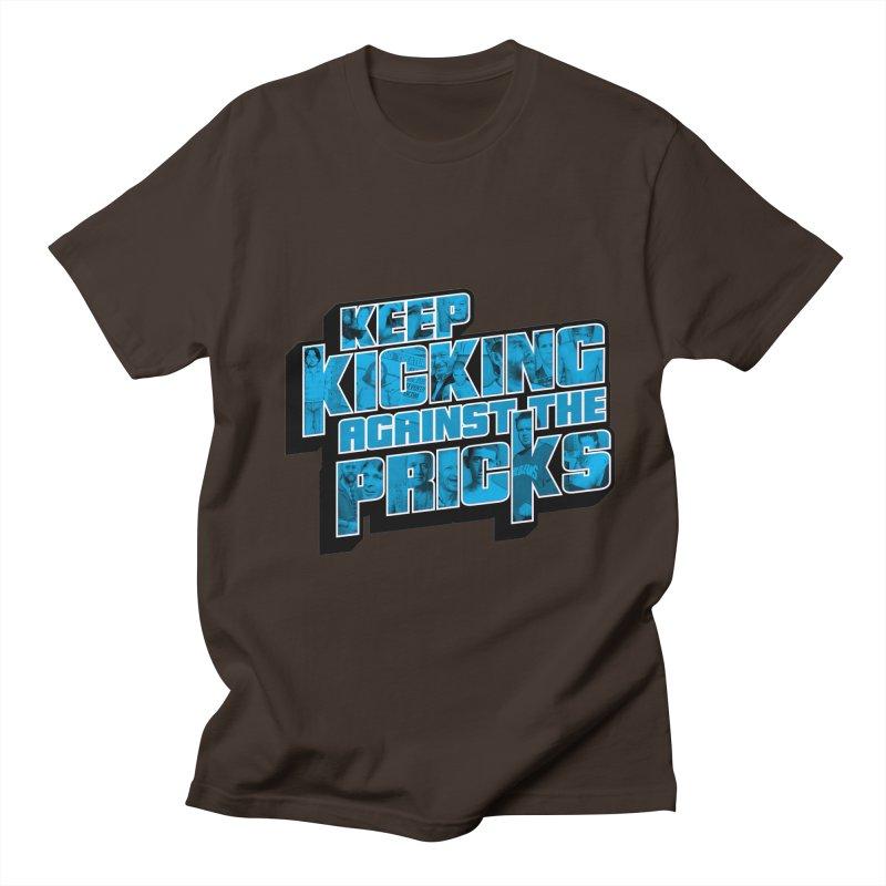Keep Kicking Against the Pricks (Coloured) Men's Regular T-Shirt by Bloody Murder's Artist Shop