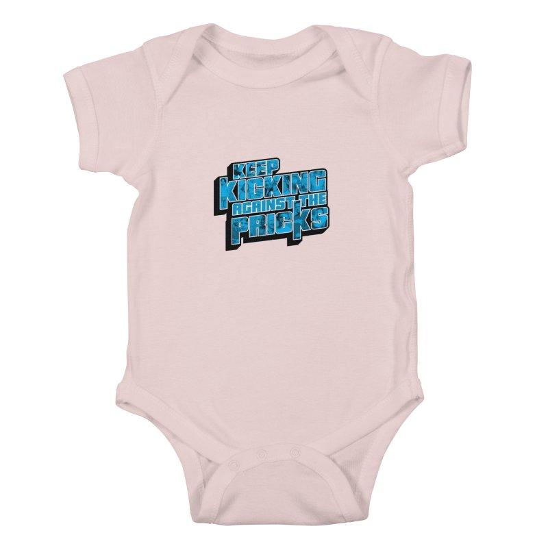 Keep Kicking Against the Pricks (Coloured) Kids Baby Bodysuit by Bloody Murder's Artist Shop
