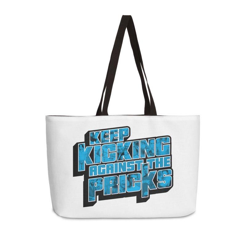 Keep Kicking Against the Pricks (Coloured) Accessories Weekender Bag Bag by Bloody Murder's Artist Shop