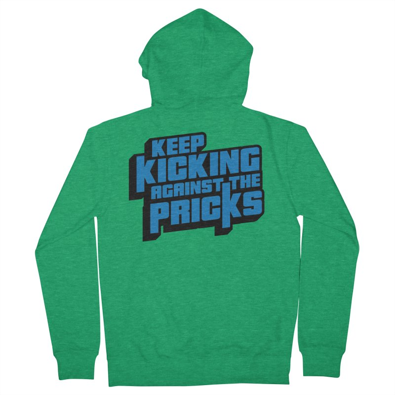 Keep Kicking Against The Pricks Men's Zip-Up Hoody by Bloody Murder's Artist Shop