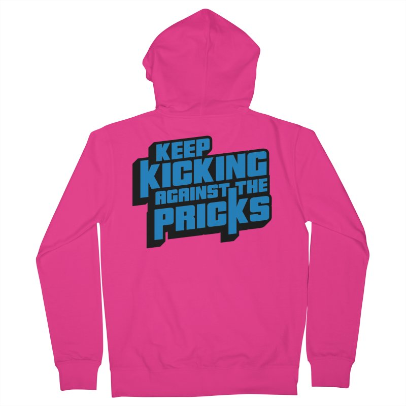 Keep Kicking Against The Pricks Men's French Terry Zip-Up Hoody by Bloody Murder's Artist Shop