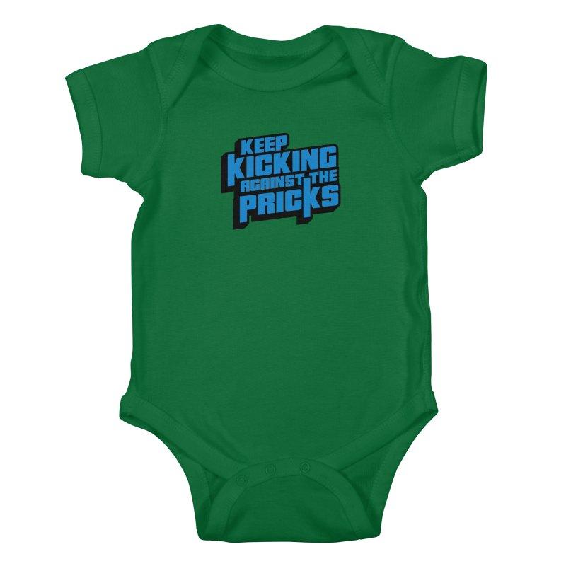 Keep Kicking Against The Pricks Kids Baby Bodysuit by Bloody Murder's Artist Shop