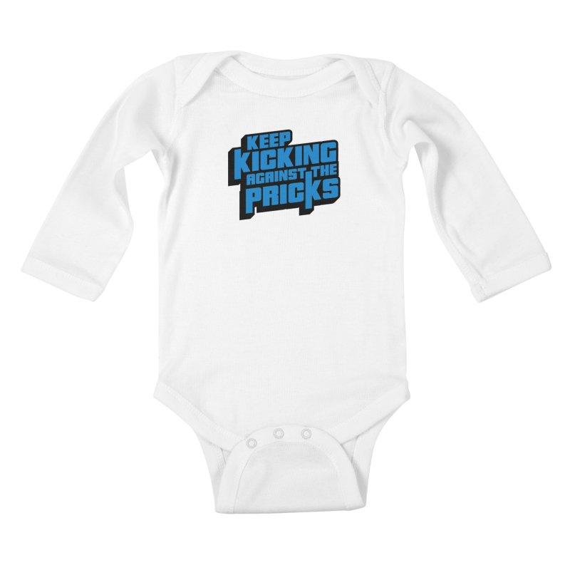 Keep Kicking Against The Pricks Kids Baby Longsleeve Bodysuit by Bloody Murder's Artist Shop
