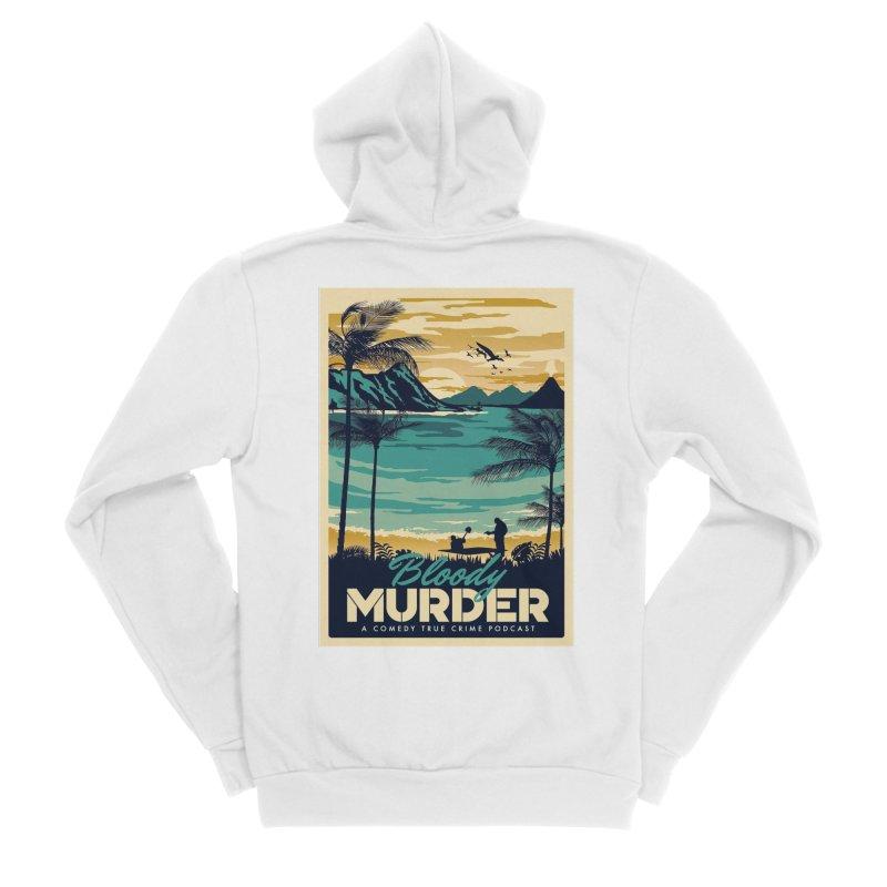 Tropical Travel Men's Sponge Fleece Zip-Up Hoody by Bloody Murder's Artist Shop