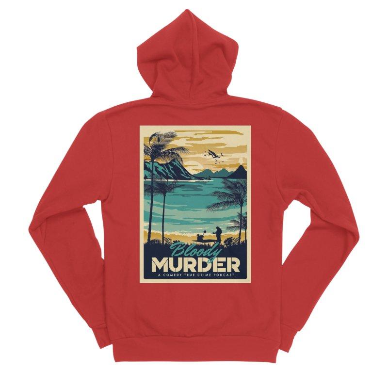 Tropical Travel Women's Zip-Up Hoody by Bloody Murder's Artist Shop