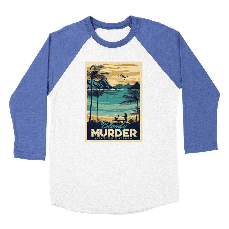 Tropical Travel Men's Baseball Triblend Longsleeve T-Shirt by Bloody Murder's Artist Shop