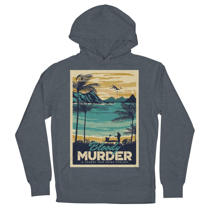Tropical Travel Men's French Terry Pullover Hoody by Bloody Murder's Artist Shop