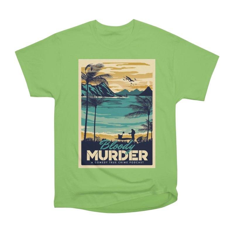 Tropical Travel Men's Heavyweight T-Shirt by Bloody Murder's Artist Shop