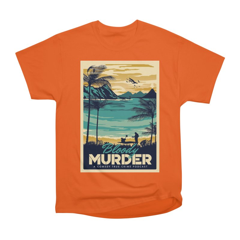 Tropical Travel Women's Heavyweight Unisex T-Shirt by Bloody Murder's Artist Shop