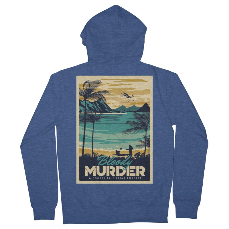 Tropical Travel Men's French Terry Zip-Up Hoody by Bloody Murder's Artist Shop